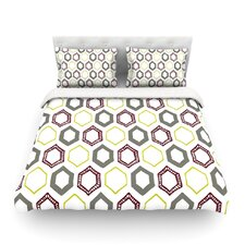 Hexy Small by Laurie Baars Geometric Light Cotton Duvet Cover