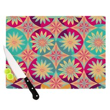 Happy Flowers by Nika Martinez Floral Abstract Cutting Board