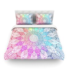 Rainbow Dots Light by Monika Strigel Duvet Cover