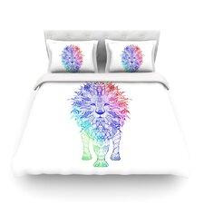 Rainbow Lion by Monika Strigel Featherweight Duvet Cover