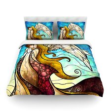 In The Arms Of The Angel by Mandie Manzano Light Duvet Cover