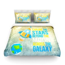 Explore the stars by Nick Atkinson Duvet Cover