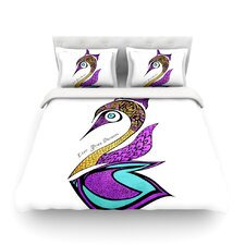 Dreams Swan by Pom Graphic Design Cotton Duvet Cover