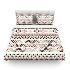 Tribal Native in Pastel Brown Light by Nika Martinez Featherweight Duvet Cover