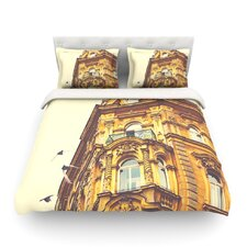Prague Morning by Ann Barnes Building Featherweight Duvet Cover