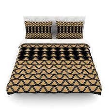 Deco Angles Gold Black by Nina May Duvet Cover