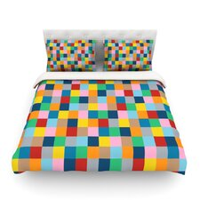 Colour Blocks Zoom by Project M Geometric Rainbow Featherweight Duvet Cover