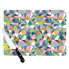 Abstraction Pink by Project M Rainbow Abstract Cutting Board