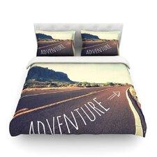 Adventure by Sylvia Cook Desert Road Duvet Cover
