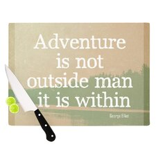 Adventure by Rachel Burbee Nature Typography Cutting Board