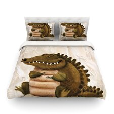 Smiley Crocodiley by Rachel Kokko Duvet Cover