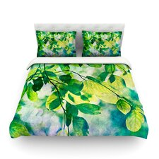 Leaves by Sylvia Cook Duvet Cover