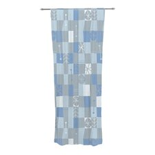 Nature Check Winter Curtain Panels (Set of 2)