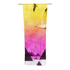 Seagulls in Shiny Sky Curtain Panels (Set of 2)