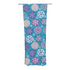 Floral Winter Curtain Panels (Set of 2)