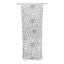 Flowers Curtain Panels (Set of 2)