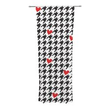 Spacey Houndstooth Heart Curtain Panels (Set of 2)