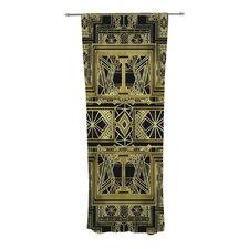 Golden Art Deco Curtain Panels (Set of 2)