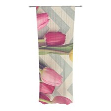 Tulips and Chevrons Curtain Panels (Set of 2)