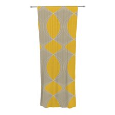 Geometries in Yellow Curtain Panels (Set of 2)