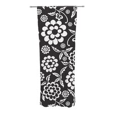 Cherry Floral Curtain Panels (Set of 2)