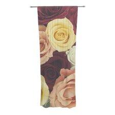 Vintage Roses Curtain Panels (Set of 2)