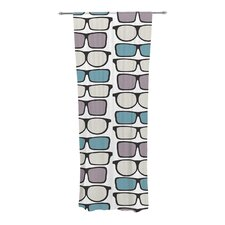 Spectacles Geek Chic Curtain Panels (Set of 2)