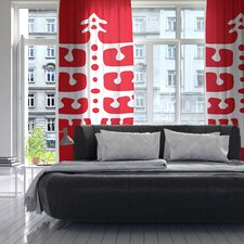 Vernal Season Curtain Panels (Set of 2)