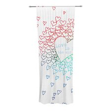 Rainbow Hearts Curtain Panels (Set of 2)