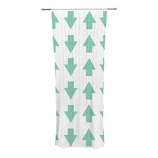 Arrows Up and Down Curtain Panels (Set of 2)