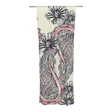 Inky Paisley Bloom Curtain Panels (Set of 2)