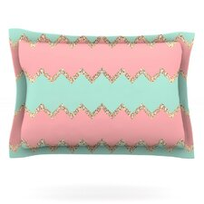 Avalon Soft Coral and Mint Chevron by Monika Strigel Featherweight Pillow Sham