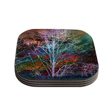 Trees in the Night by Sylvia Cook Coaster (Set of 4)