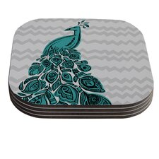 Peacock by Brienne Jepkema Coaster (Set of 4)