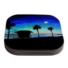 Carlsbad State Beach by Theresa Giolzetti Coaster (Set of 4)