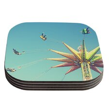 Flying Chairs by Libertad Leal Coaster (Set of 4)
