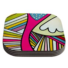 Fake Colors by Danny Ivan Coaster (Set of 4)