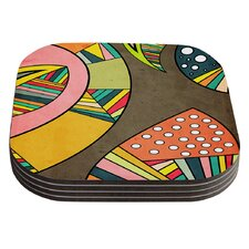 Cosmic Aztec by Danny Ivan Coaster (Set of 4)