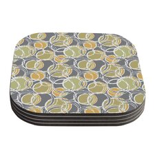 Simple Circles by Julia Grifol Coaster (Set of 4)