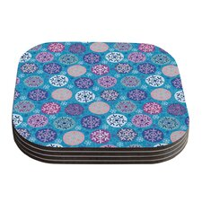 Floral Winter by Julia Grifol Coaster (Set of 4)