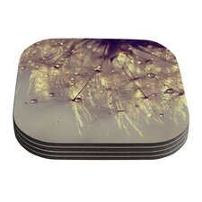Sparkles of Gold by Ingrid Beddoes Coaster (Set of 4)
