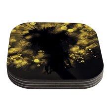 Moonlight Dandelion by Ingrid Beddoes Coaster (Set of 4)