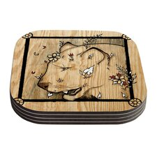Panther by Jennie Penny Coaster (Set of 4)