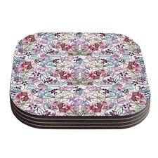 Cool Stitch White DLKG Design Blush Coaster (Set of 4)