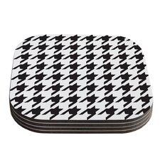 Spacey Houndstooth by Empire Ruhl Coaster (Set of 4)