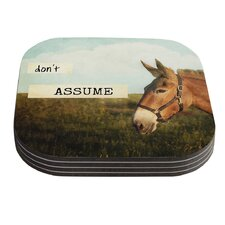 Don't Assume by Catherine McDonald Coaster (Set of 4)