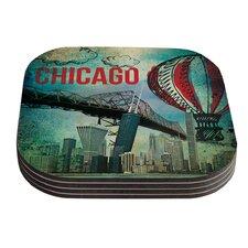 Chicago by iRuz33 Coaster (Set of 4)