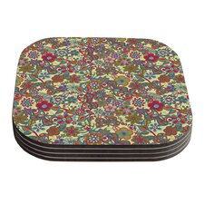 My Butterflies and Flowers by Julia Grifol Coaster (Set of 4)