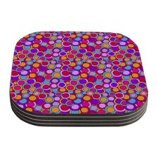 My Colorful Circles by Julia Grifol Coaster (Set of 4)
