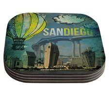 San Diego by iRuz33 Coaster (Set of 4)